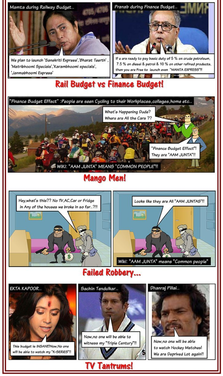 Finance Budget Loots common man: A lighter take on finance budget by faadooengineers.com