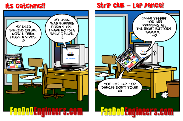 two talking computers cartoon - 2