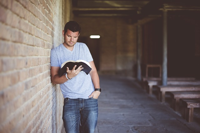 A reading a book studying abroad