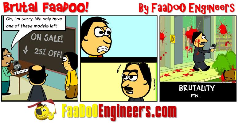 A cartoon describing a brutal engineer
