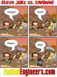 "Steve ""Apple"" Jobs vs. A Caveman...!"
