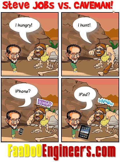 """Steve """"Apple"""" Jobs vs. A Caveman...!"""