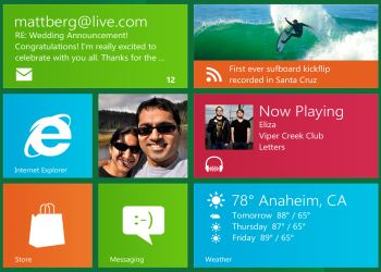 Windows 8 home preview..