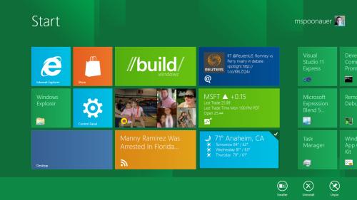 Windows 8 preview - desktop