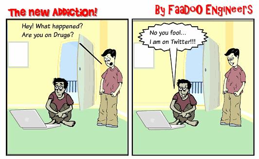 twitter addiction cartoon