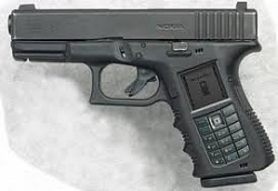 NOKIA SPECIAL CELL PHONE IN SHAPE OF GUN