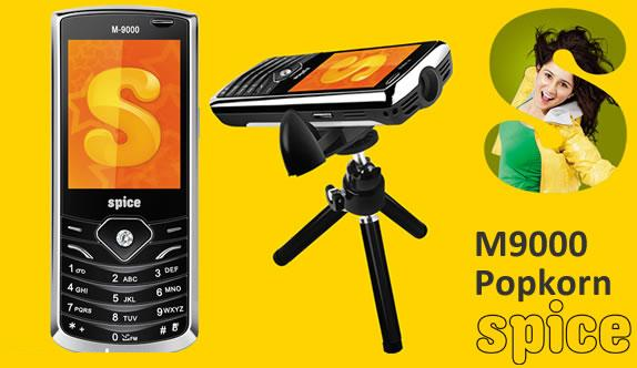 Spice M 9000 Popkorn: The phone with a Projector