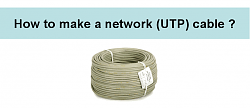 make a LAN cable/ network cable/ network UTP cable image 1