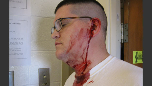 A Texas man was rushed to the hospital after his cellphone exploded while he was holding it up to his ear. Aron Embry said he was making a call on his new phone when he heard a loud pop, then his ear started bleeding.