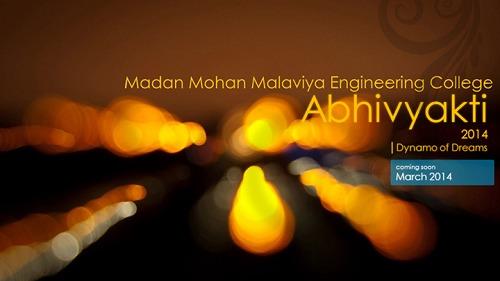 Abhivyakti 2014, Madan Mohan Malviya Engineering College, Gorakhpur, Cultural Festival, Uttar Pradesh