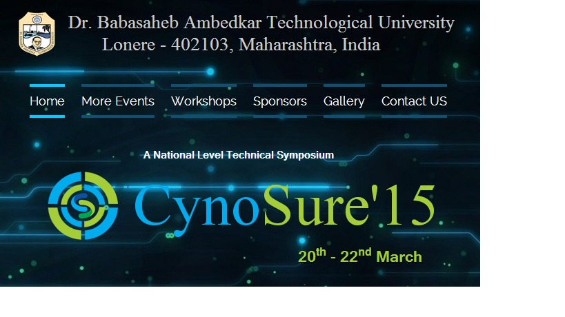 Cynosure'15, Technical Festival, Dr. Babasaheb Ambedkar Technological University