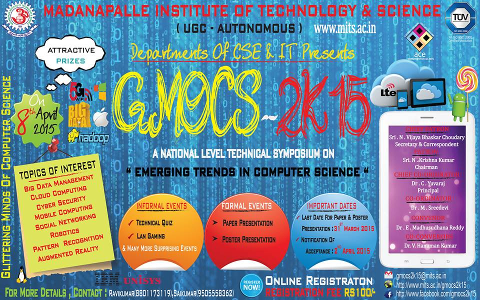 GMOCS 2K15,Technical Fest, Madanapalle Institute of Technology & Science