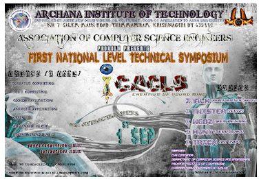 ICACLS 2012 Technical Fest  Archana Institute of Technology, Krishnagiri, Tamilnadu  1st September 2012