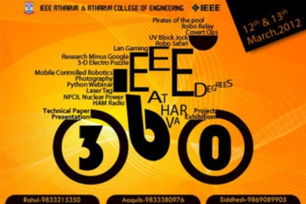 IEEE 360 Degrees 2013, Atharva College Of Engineering, Mumbai, Maharashtra, Technical Fest