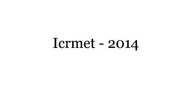 Icrmet--2014-IAETSD