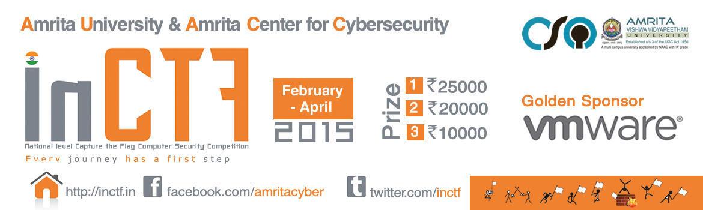 InCTF 2015, Security Competition, Amrita Vishwa Vidyapeetham