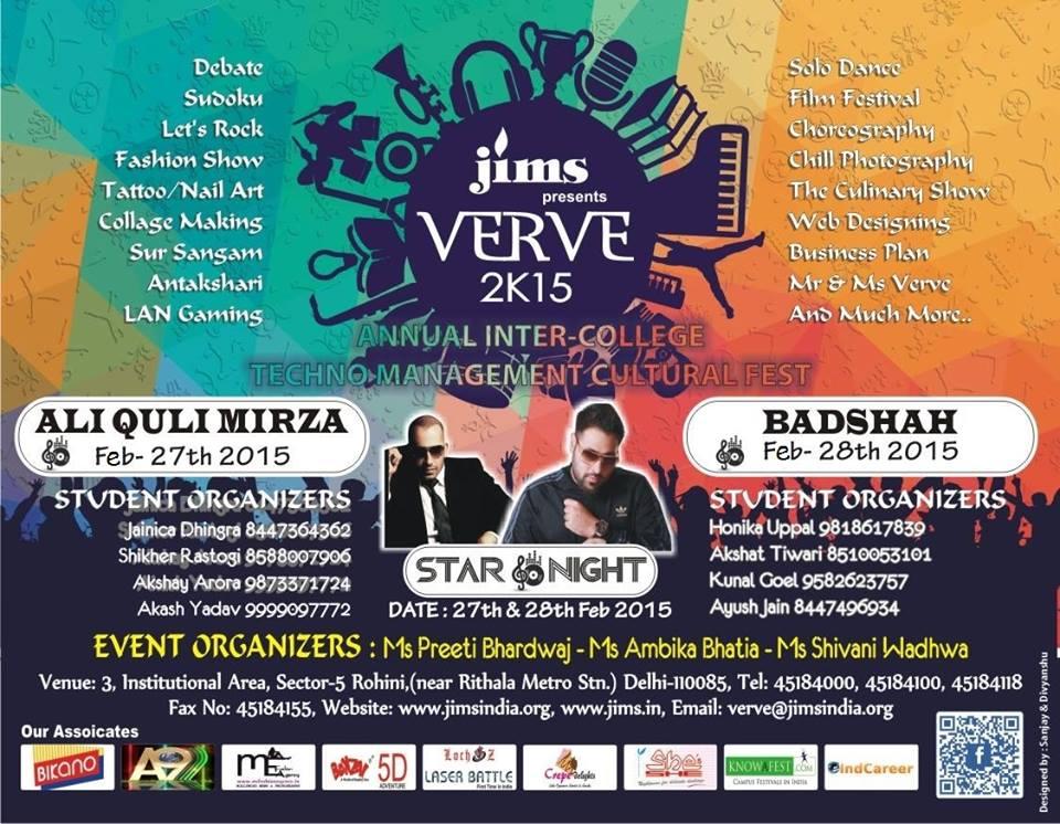 JIMS VERVE 2K15 Techno Management Cultural Fest Jagannath institute