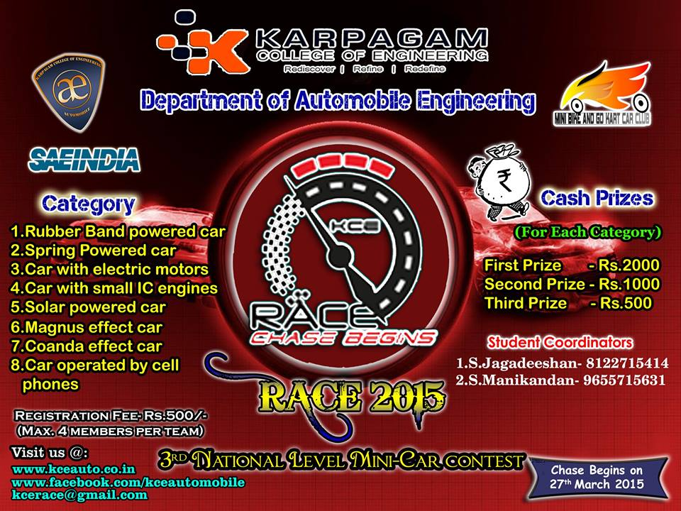 Race 2k15 Technical Festival Karpagam College of Engineering Coimbatore.jpg