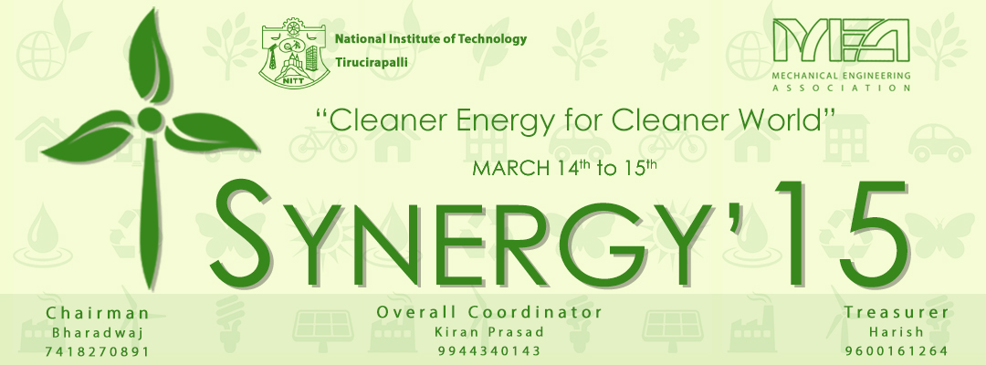 Synergy 2015, Technical Festival, National Institute of Technology Tiruchirappalli