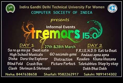 Tremors 15.0 Technical fest IGDTU New Delhi